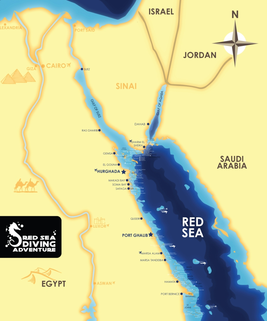 The Red Sea of Egypt is a very large area with many dive sites. From reefs and wrecks in the north, Was Mohamed, Brother Islands and Daedalus together with Elphinstone in the south. And not to forget the Deep South with Saint Johns and Rocky & Zabargad.